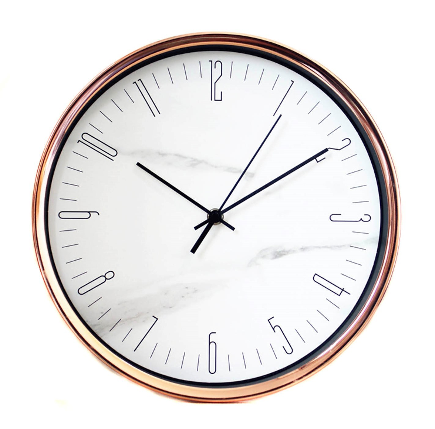 Rose Gold & Marble Look Clock