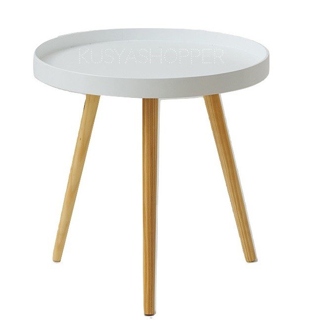 Round Wooden Tray Table