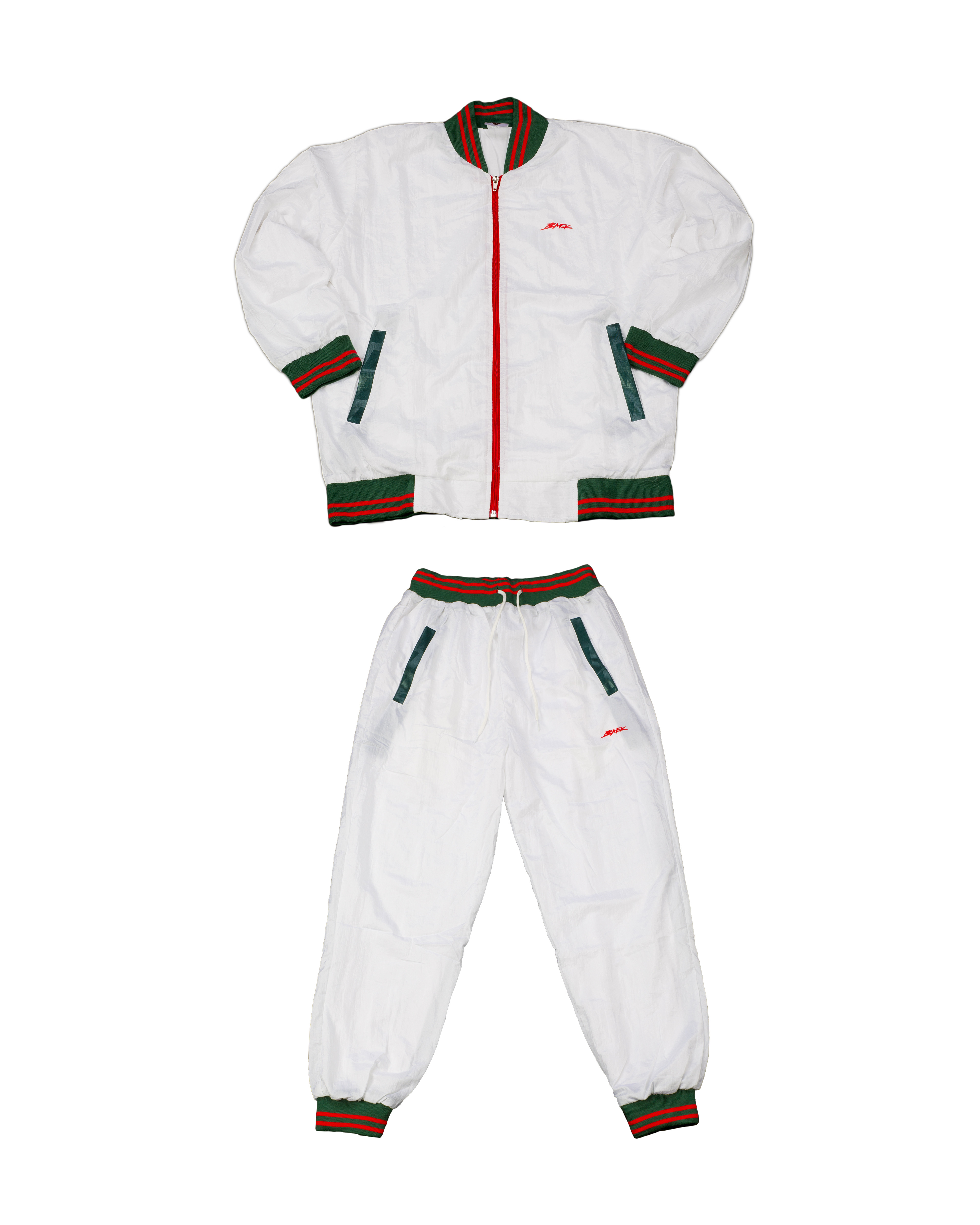 BAEK TRACKSUIT - GREEN/RED