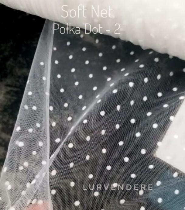 Soft Net Polkadot - White ( 2 )
