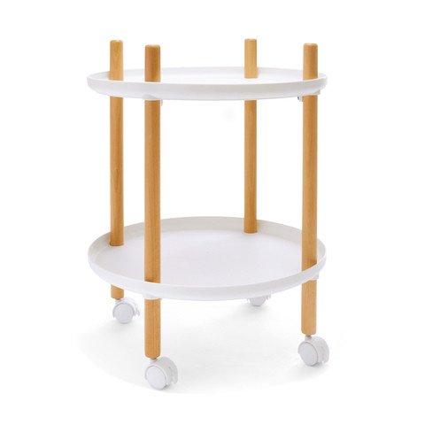 Nordic Round Trolley Table