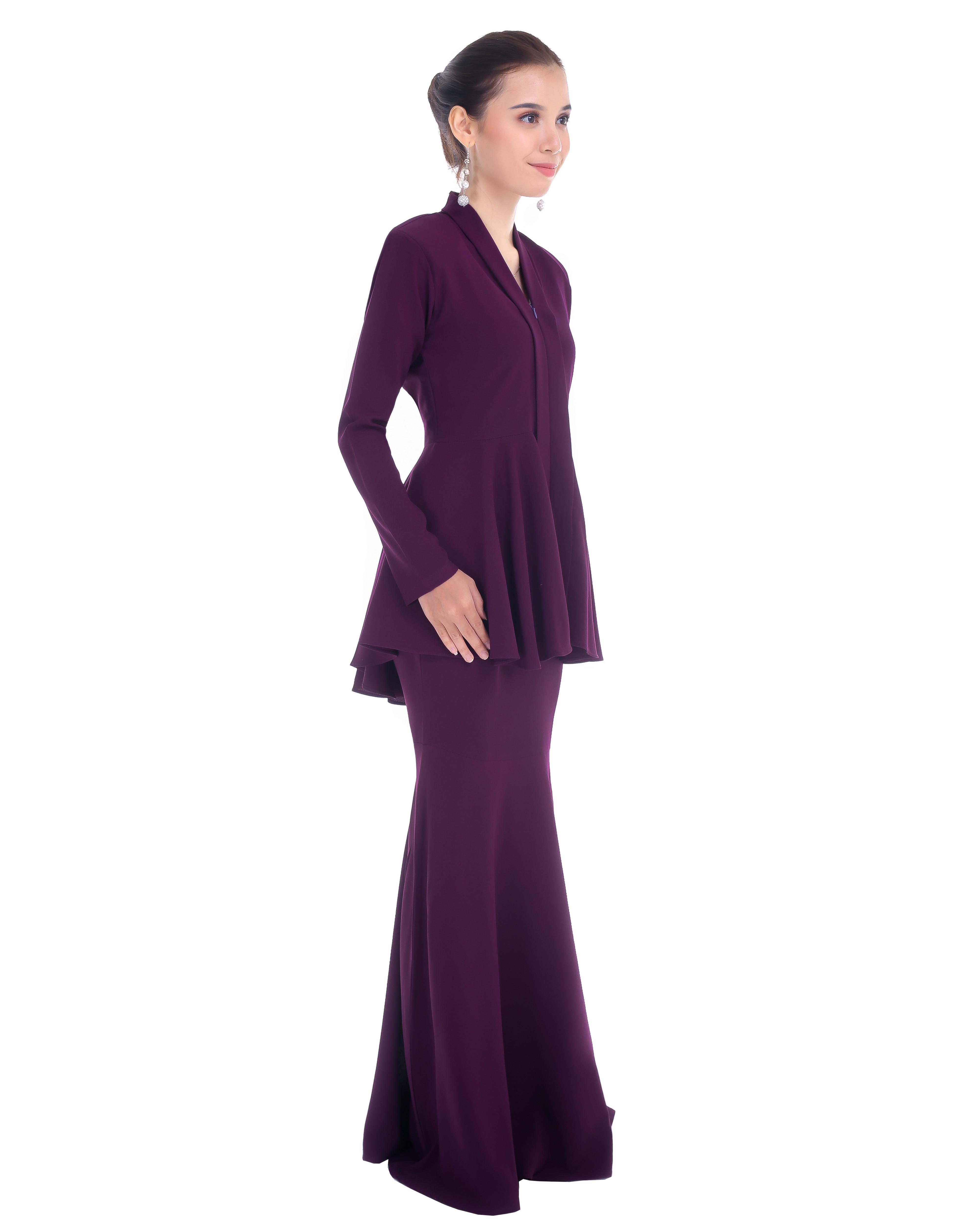 Kebaya Peplum - Mitten Purple