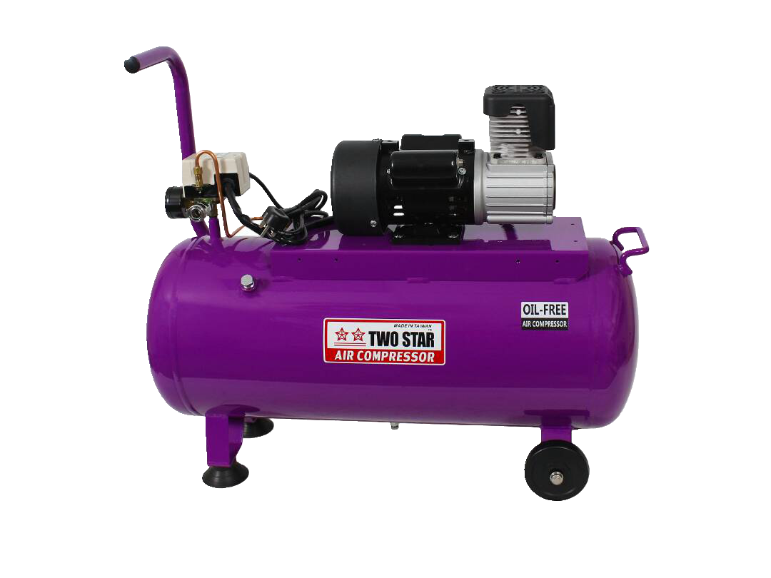 TWO STAR 220V AC Oil Free Air Compressor with 50 liters tank