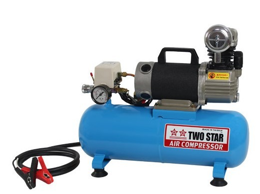 TWO STAR CT-15A1-DC12V Portable Micro-oil 12V DC Air Compressor w