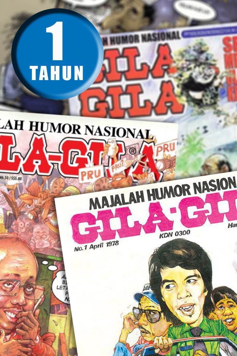 LANGGANAN MAJALAH GILA-GILA  - 1 TAHUN (PASARAN MALAYSIA SAHAJA)