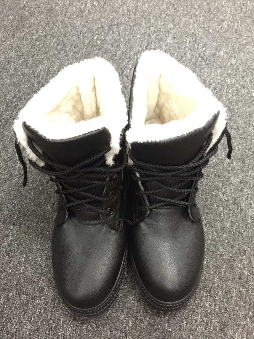 Winterboot Plush String PU Leather