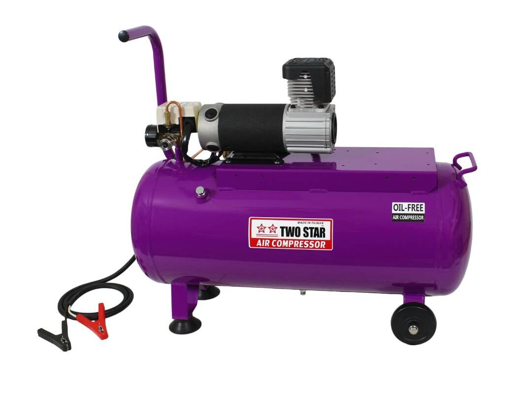 Two Star 12V DC Oil Free Air Compressor with 50 liter tank