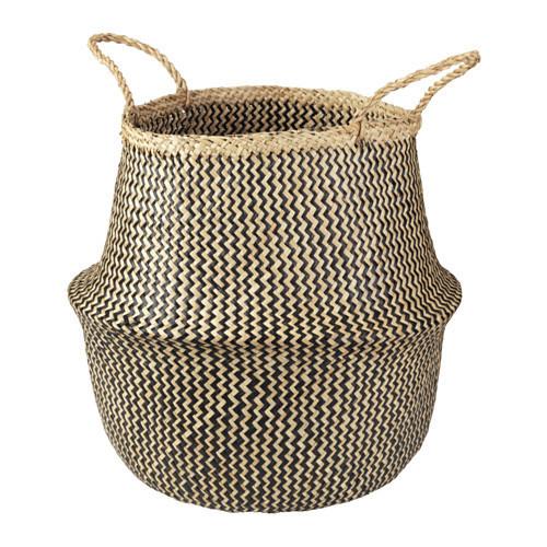 Rice Basket Small (Chevron & White Dipped)