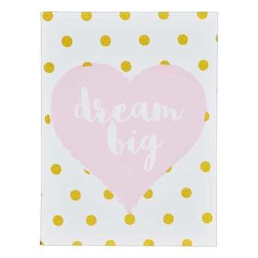 Dream Big Pink Wall Canvas