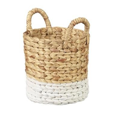 Living Space Matilda Round Basket With Handles - SMALL