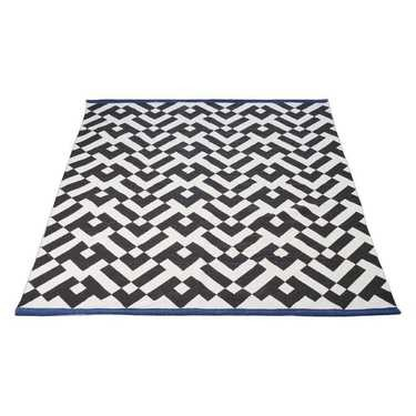 Geometric Printed Cotton Rug