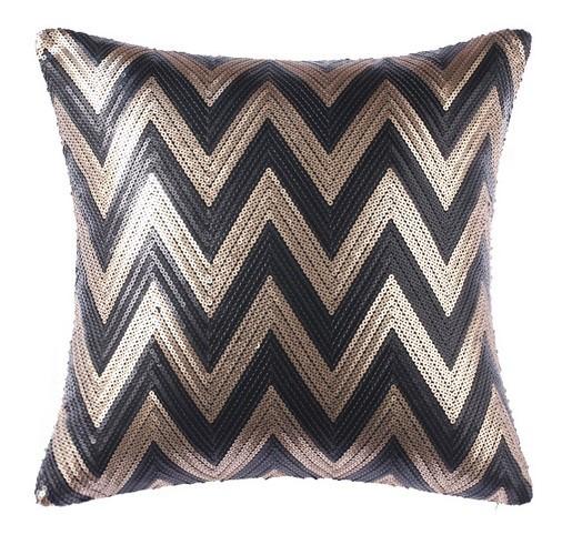 Chevron Sequin Cushion 50x50cm