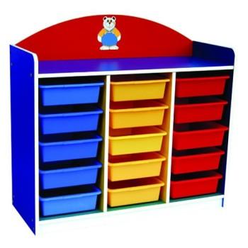 Multi-Coloured 15 Trays Manipulatives Storage Unit