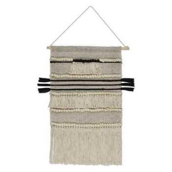 Wall Hanging Tassels Ivory & Black