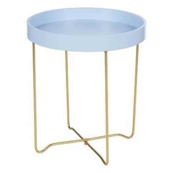 Tray Table Blue & Wire Leg