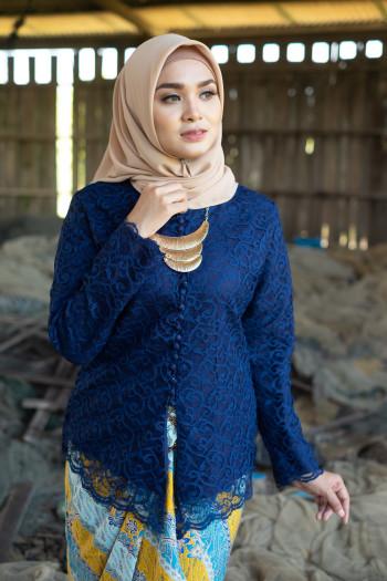 Nirmala Lace Dark Blue (Tops Only)