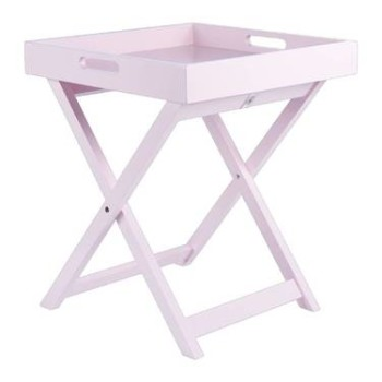Side Tray Table Pink
