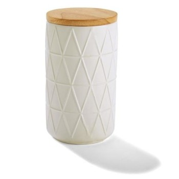 Embossed Canister White
