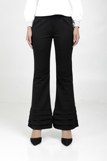 Alma Flared Pants Black