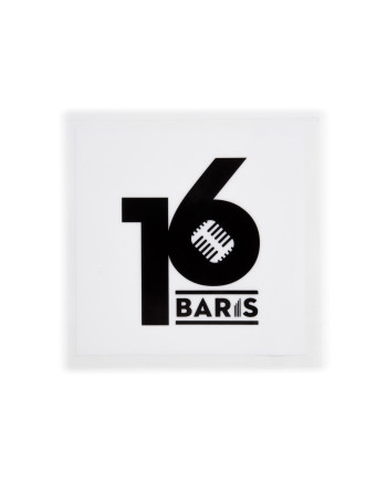 16 BARIS CAR STICKER - WHITE