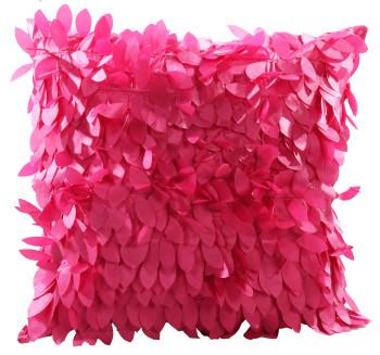 3D Leave Petals Cushion Cover Multicolored