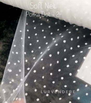 Soft Net Polkadot - White ( 2 )