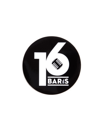16 BARIS ROUND STICKER - BLACK