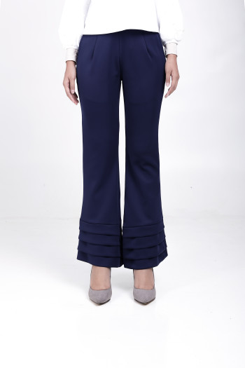 Alma Flared Pants Navy Blue