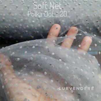 Soft Net Polkadot - Grey  ( 20 )