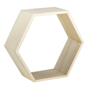 Hexagon Shadow Box Natural