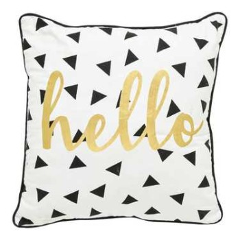 Hello Cushion White