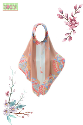 ETHNIBELLE SCARF IN BROWN