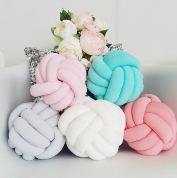 Knotted Pillow Multicolored