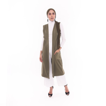 nelly vest olive