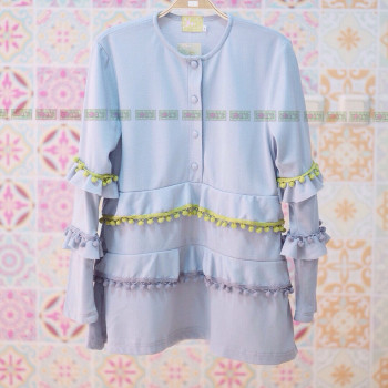 PAMPAM BLOUSE IN BLUE
