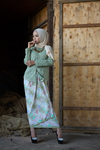Nirmala Lace Soft Green (Tops only)
