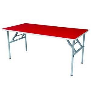 Rectangular Table with Foldable Legs