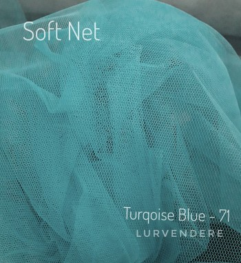 Soft Net - Turquoise Blue ( 71 )
