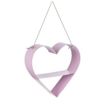 Heart Metal Shelf Pink