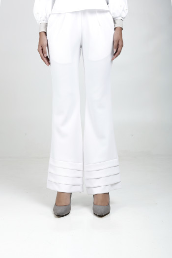 Alma Flared Pants White