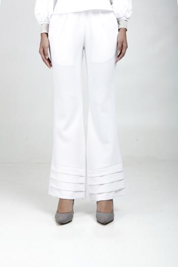 Alma Flared Pants White