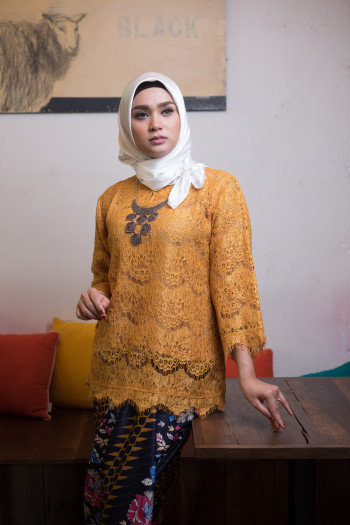 Kedah Lace Yellow Mustard (Tops Only)