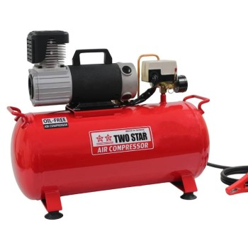 Two Star 24V DC Oil Free Air Compressor with 25 liter tank