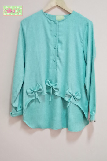 RIBBON BLOUSE IN TOSCA