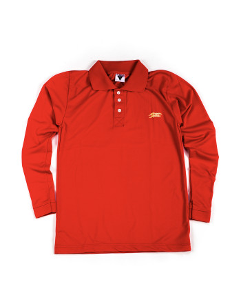 BUDAK BAEK POLO DRI-FIT L/S GOLF - RED