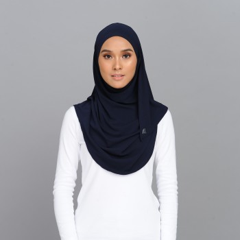 Lisaa Instant Moss Crepe Navy Blue