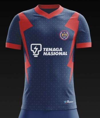 Malaysia Hockey Official Training Jersey - BLUE