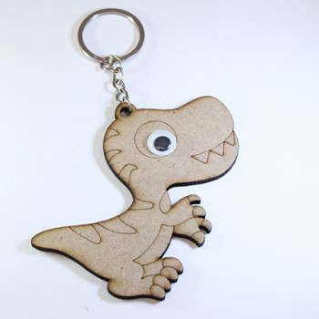 Wooden Keychain Dinosour - Kidcited Learning Store