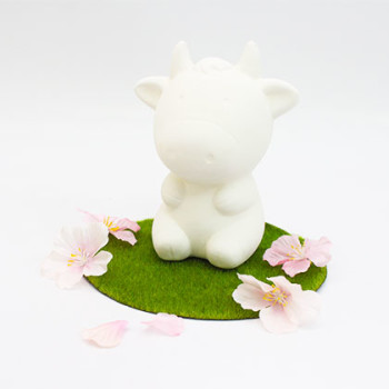Ceramic Coin Bank (L) - Cow