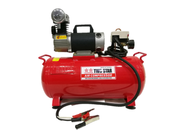 TWO STAR HT25L-15A-DC12V Portable Micro-oil DC Air Compressor wit